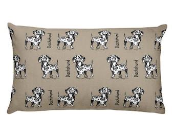 Dachshund Throw Pillow, Dog Breed Throw Pillow, Designer Throw Pillow, Doxie Pillow, Weiner Dog Pillow, Dog Throw Pillow, Accent Pillow