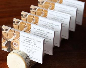 Multi Card Holder Business Card Holder - Rustic Birch