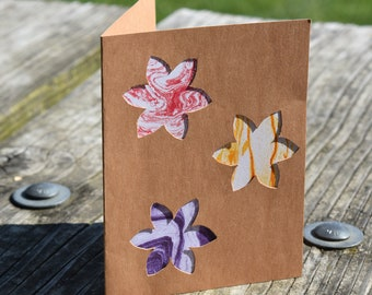 Multicolored Flowers Card