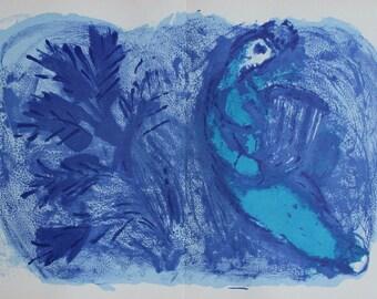 Marc Chagall Original Lithograph King David Bible Limited Mourlot 1957