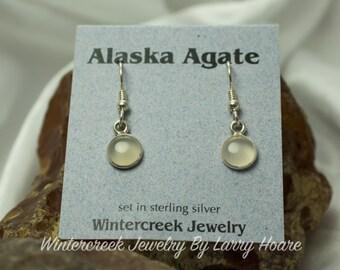 Handmade Alaska Agate Round Earrings