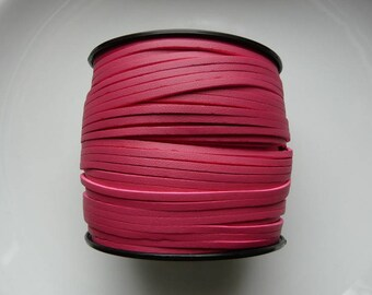 The meter 3 mm pink leather cord hot pink