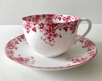Large Breakfast Cup Shelley Dainty Pink Tea Cup & Saucer Bute Shapped