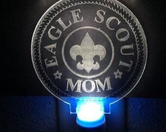 Nightlight LED - Scout Mom - Laser Engraved