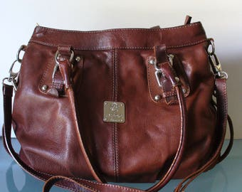 I Medici Made in Italy Chestnut Leather Bag