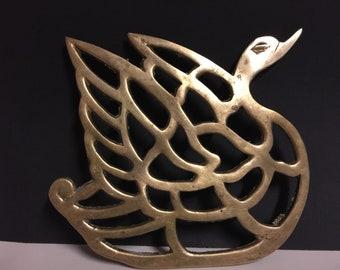 Brass Geese Trivet