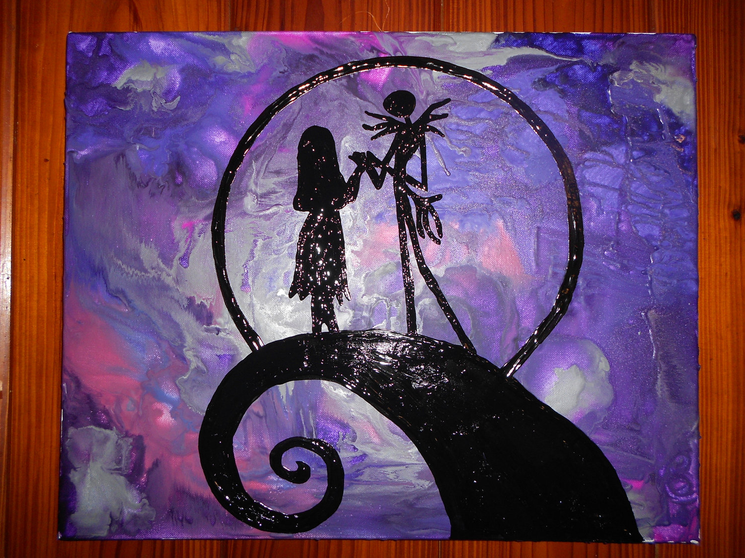 Jack Sally Inspired Nightmare Before Christmas Melted Crayon
