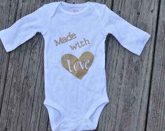 Custom Made with Love Onesie