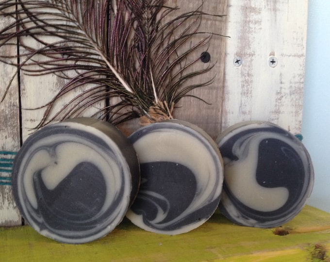 Tea Tree & Rosemary Charcoal Bentonite Clay detox lye soap