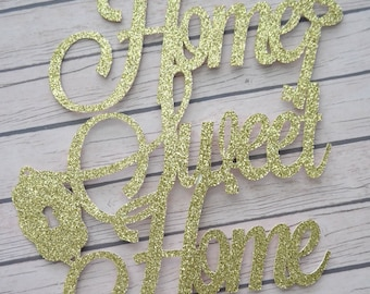 HOME SWEET HOME Cake Topper, Housewarming Cake Topper, House Warming Cake Topper, Housewarming Party, Home Sweet Home Party, New Home