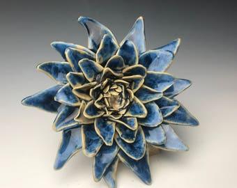 Porcelain Wallflower - Crystalline Glazed