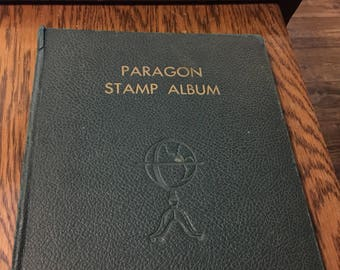 Paragon Stamp Album, 1931 - With Some Period Stamps