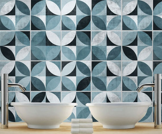 Tile Decal Mid Century Modern Tile Stickers Kitchen