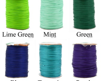 Mandala Crafts Korean Wax Cord, Beading Cord, 1mm, 170 Meters, 186 Yards, Many Color Options