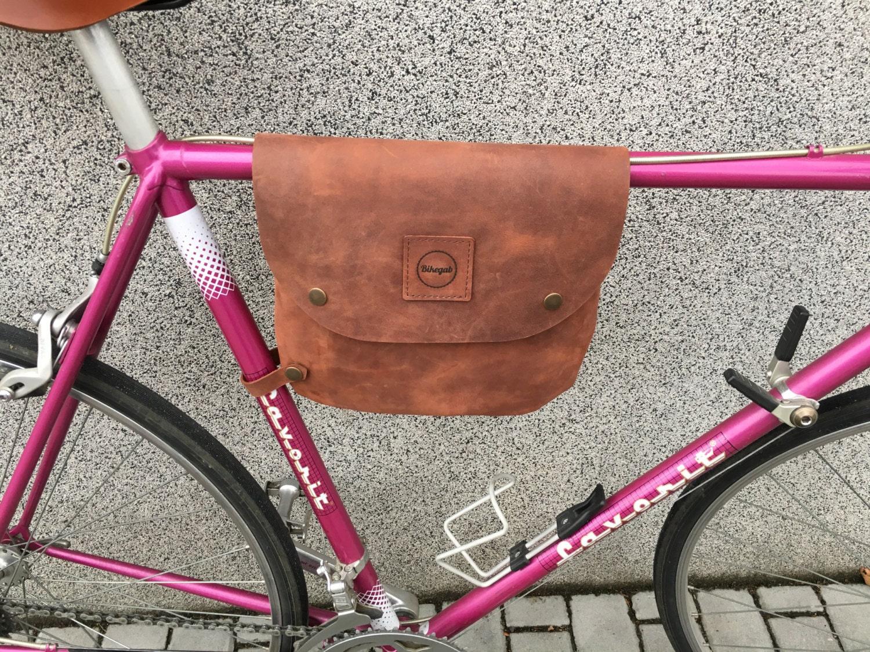 Fahrrad Rahmen Ledertasche / Tasche Bikegab Whiskey