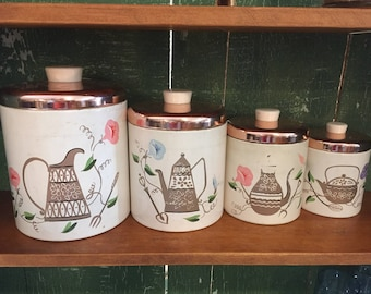 Retro Nesting Kitchen Canisters