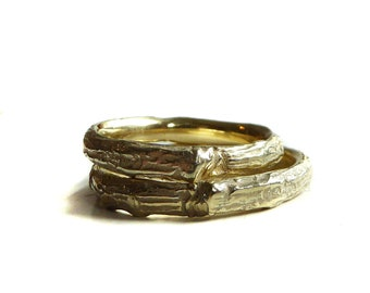Small branch ring NO4 yellow gold 585