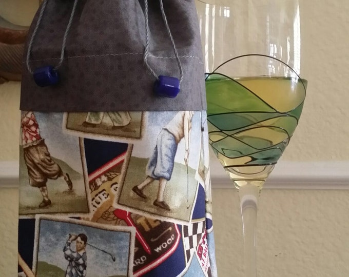 Wine Bag-Deluxe-Sports Collection (Golf n' Gray)