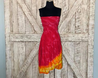 Fire and Flame Ruffled Skirt or Dress