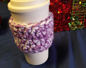 Travel Mug Cozy - Coffee Cozy - Travel Coffee Cup - Cup Cozy - Eco Friendly - Reusable - Hot or Cold - Crochet - Handmade - Ready to Ship