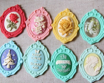 12pcs of resin Baroque frame setting for 30x40mm cameo-0279-you can choose the color