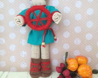 Doll motanka Spiridon-solstice/Кукла-мотанка Спиридон-солнцеворот/ doll motanka, ukrainian souvenir, charms doll, textile doll, man doll