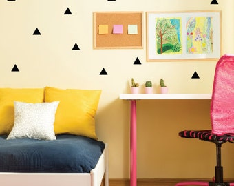 Triangle Wall Decals, Peel and Stick Wall Stickers, Triangle Decals, Kids Wall Decals, Childrens Bedroom Decor