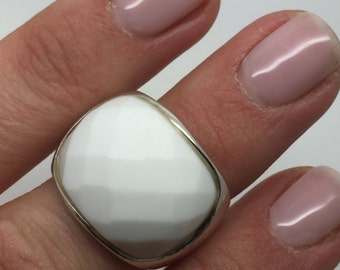 silver ring with white stone,white stone ring,silve jewelry,silver stone ring,stone ring,gemstone ring,boho ring,statement ring,boho chic