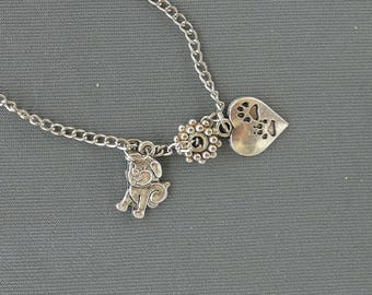 Necklace with pendants. Gift for kinds. Love for pets - necklace with pendates