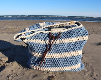Crochet Bag, Beach Bag, Tote