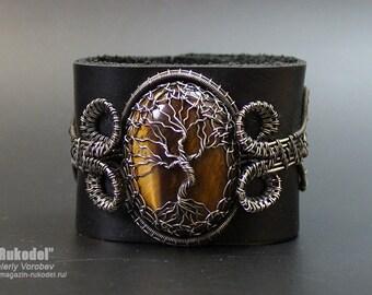 Wire Wrapped Bracelet. Bracelet Tree of Life.