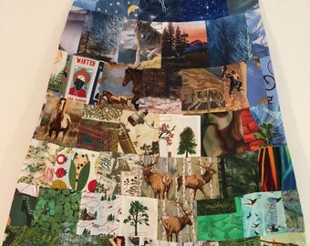 Colorado Themed A-Line Skirt