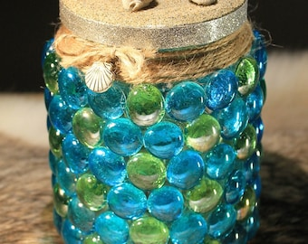 """Seaside"" LED tealight decoration, sea, beach, vacation"