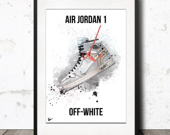 the latest 6b873 00076 ... CAKE DON  Off-White x Nike Air Jordan 1 - Limited Edition Poster  Artwork Print Supreme Europe ...