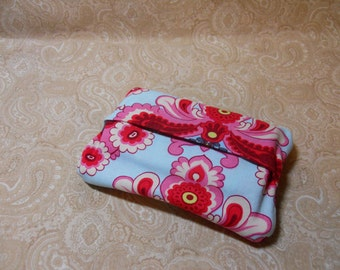 Pinks and Blue Fun Purse Tissue Cover