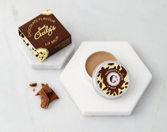 Food lip balm- Chocolate flavour-Lip Balm Favors-Party bag filler-Hot Chocolate Balm-Lip Moisturiser-Lip Balm Gift Idea-Cruelty free balm