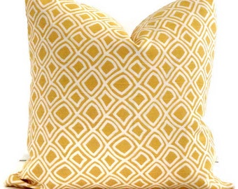Duralee Yellow Trellis  Decorative Pillow Cover 20x20  pillow cover, Throw pillow, Toss pillow, Accent pillow