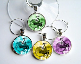 Ride On..Bicycle Wine Charms