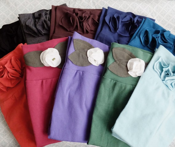 Choose a color Leg Warmers boot socks women's fashion accessory Cotton jersey aqua green black burgundy Made to Order -