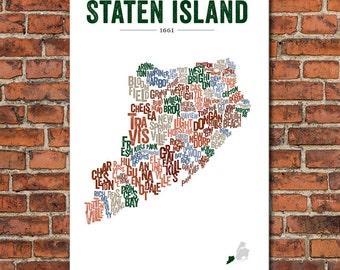 The Boroughs of New York City Series – Staten Island, Art Print