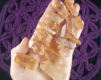 Bulk Lot Tangerine Quartz Crystal Point Crystals Gemstones Stones Points natural Brazil parcel wholesale gridding set