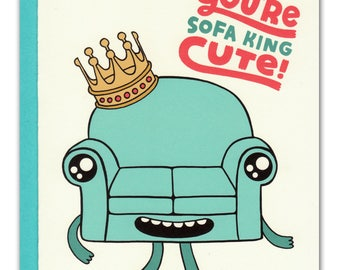 Du bist Sofa König nette Karte