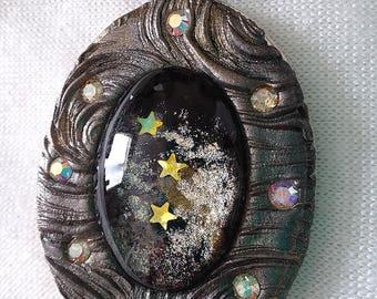 Stardust, Celestial, Mystical, Magical, Gypsy, Mosaic Pendant, PA-104