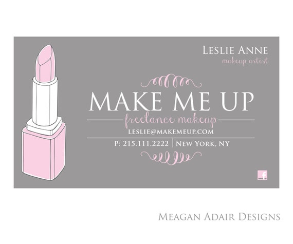 Items similar to makeup artist business card lipstick business items similar to makeup artist business card lipstick business cards calling cards set of 500 cards on etsy colourmoves Gallery