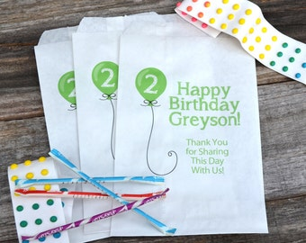 Party Favor Bags Balloon | Paper Candy Bags | Birthday Favor Bags | Goodie Bags | Cookie Bags | Personalized Bags | Popcorn Bags | Paper