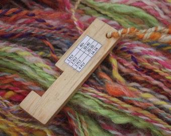 Yarn Gauge - WPI Gauge (wraps per inch) spinning tool