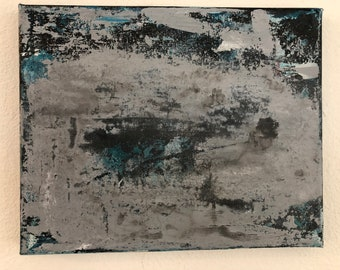 Abstract Matte Silver Acrylic