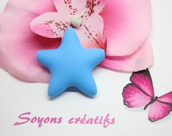 Perle Silicone food Star Blue 45mm