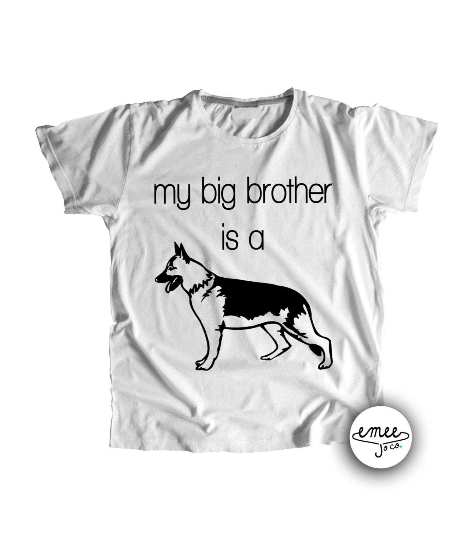 German Shepherd Baby Clothes Big Brother Dog Shirt Dog Baby