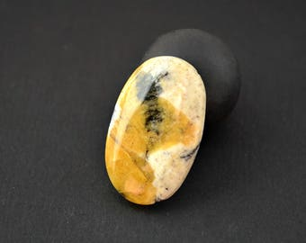 Rare Cancrinite natural stone cabochon  31 x 19 x 4 mm